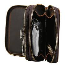 МужскиекожаныебрелкидляключейСумка Ключ Крюк Молния Чехол Держатель для монет с 6 ключами Крюкs - 1TopShop, фото 3