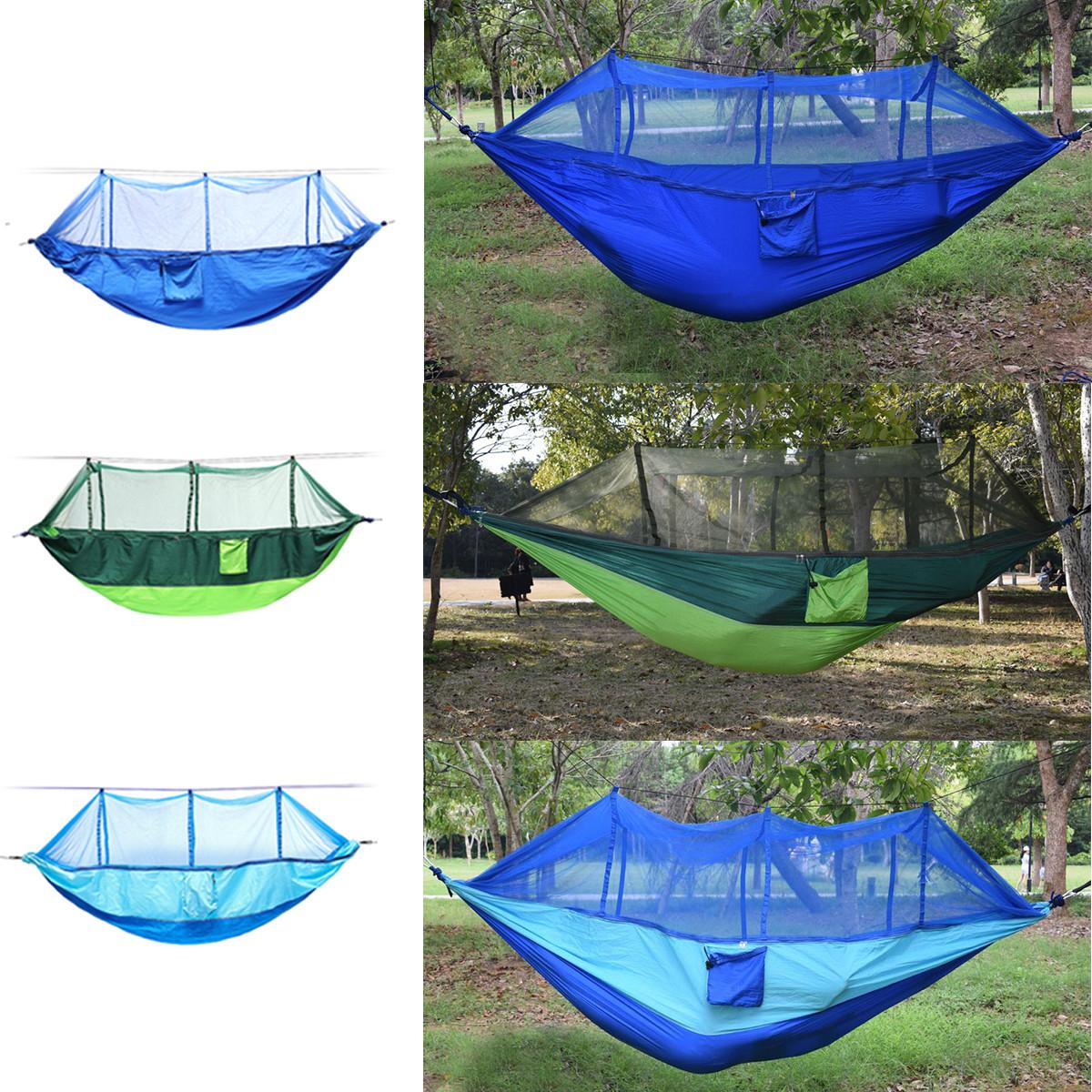 На открытом воздухе Портативный 2 человека двойной гамак Кемпинг Палатка висит качели кровать с москитной сеткой - 1TopShop