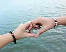 2 шт белый Бирюзовый ручной работы из бисера браслет пара цепи для мужчин Женское - 1TopShop, фото 3