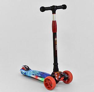 Самокат трехколесный Best Scooter UL - 10233 S, 4 колеса PU со светом, свет платформы