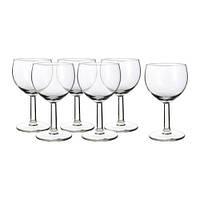 FÖRSIKTIGT   Бокал для вина, прозрачное стекло