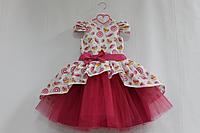 """Нарядное платье на девочку с малиновым фатином """"Вкусная пироженка"""""""