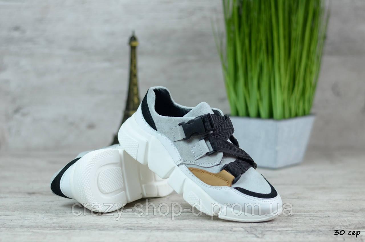 Женские замшевые кроссовки (Реплика)►Размеры [40], фото 1