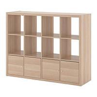 Стеллаж IKEA KALLAX 147x112 см Светло-коричневый 492.782.56, КОД: 386157