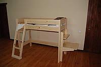 Кровать детская из натурального дерева Колибри, фото 1