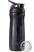 Спортивная бутылка-шейкер BlenderBottle SportMixer 820ml Black-Plum, Original - 144857