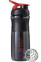 Спортивная бутылка-шейкер BlenderBottle SportMixer 820ml Black-Red, Original - 144861