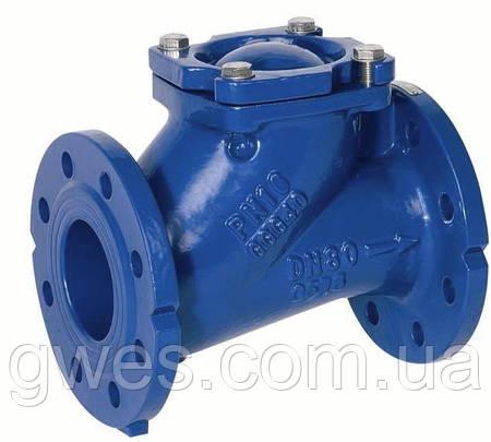 Клапан обратный шаровый для канализационных стоков (вязких и загрязненных жидкостей), Ду65