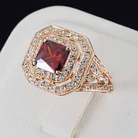 Царское кольцо с кристаллами Swarovski, покрытое золотом 0653