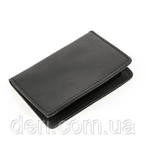 Обложка для водительских прав Shvigel 13926 кожаная Черная, Черный, фото 2