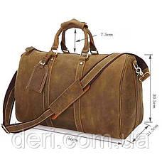 Сумка дорожная Vintage 14050 из винтажной кожи Коричневая, Коричневый, фото 3
