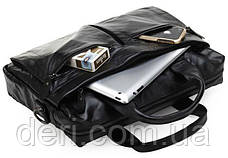 Сумка мужская Vintage 14054 для ноутбука и документов Черная, Черный, фото 3