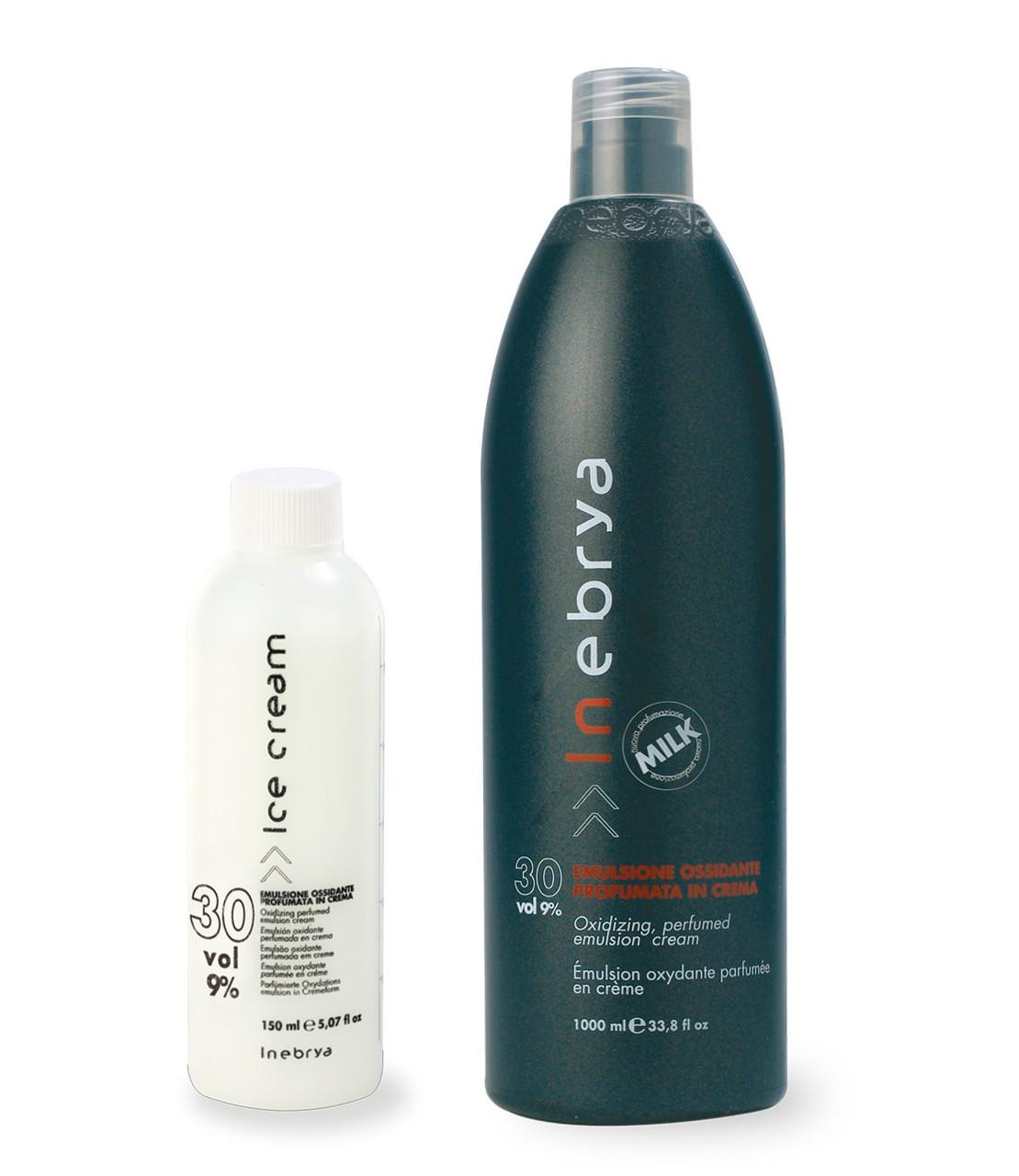 Окислительная эмульсия для волос  30Vol, 9%, Inebrya, 1000ml