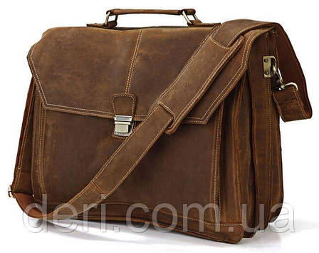 Портфель Vintage 14100 Коричневый, Коричневый, фото 2