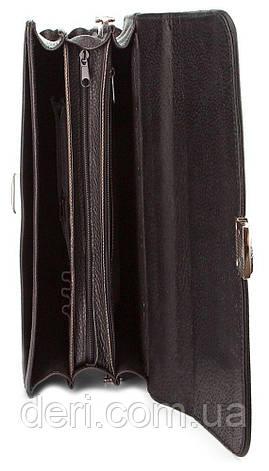 Портфель SHVIGEL 00382 из натуральной зернистой кожи Черный, Черный, фото 2