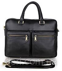 Сумка мужская Vintage 14241 для ноутбука Черная, Черный, фото 3