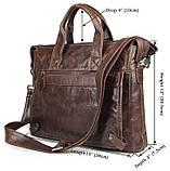 Сумка мужская Vintage 14368 Коричневая, Коричневый, фото 2
