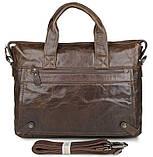 Сумка мужская Vintage 14368 Коричневая, Коричневый, фото 3