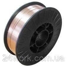 Омедненная сварочная проволока  ER 70S-6; 5 кг; 1 мм