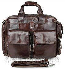 Сумка мужская Vintage 14370 Коричневая, Коричневый, фото 3