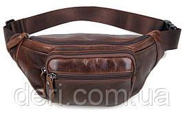 Поясная сумка Vintage 14422 Коричневая, Коричневый