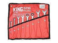 Набор ключей комбинированных с трещоткой 8 предметов, 8-19 мм.  KingRoy 6699