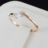 Непревзойденное кольцо с кристаллами Swarovski, покрытое золотом 0656