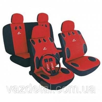 Чехлы на сидения автомобиля MILEX MAMBO красные  AG-24017/7