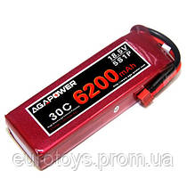 Аккумулятор AGA POWER Li-Pol 6200mAh 18.5V 5S 30C Softcase 45x49x156мм T-Plug