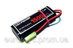 Аккумулятор AGA POWER NiMh 1500mAh 7.2V 17x34x90мм Mini Tamiya