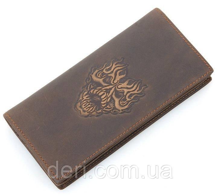 Бумажник мужской Vintage в винтажном стиле коричневый