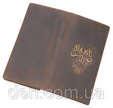 Бумажник мужской Vintage в винтажном стиле коричневый, фото 2