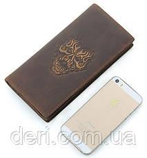 Бумажник мужской Vintage в винтажном стиле коричневый, фото 3