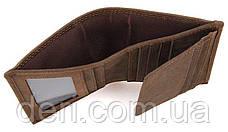 Кошелек мужской Vintage винтажный стиль коричневый, фото 3