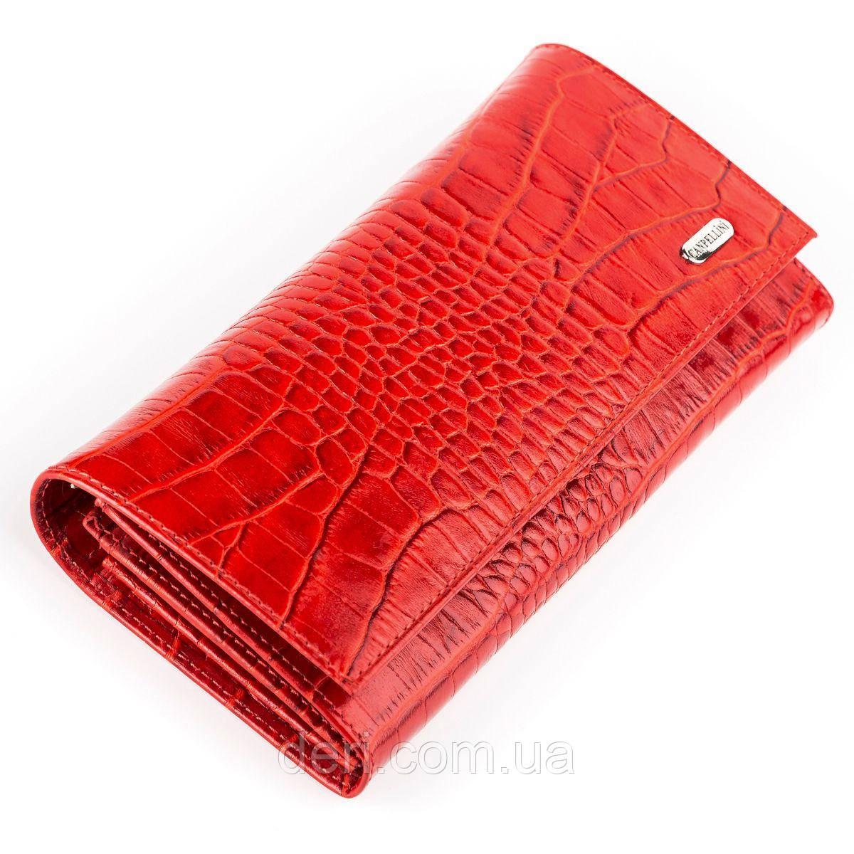 Кошелек женский CANPELLINI 17053 кожаный Красный, Красный