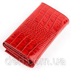 Кошелек женский CANPELLINI 17053 кожаный Красный, Красный, фото 2