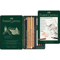 Набор для графики Faber Castell, Pitt Monochrome, 12 предметов (112975)