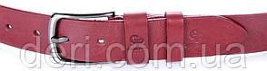 Ремень женский GRANDE PELLE 00915 кожаный Красный, Красный, фото 2