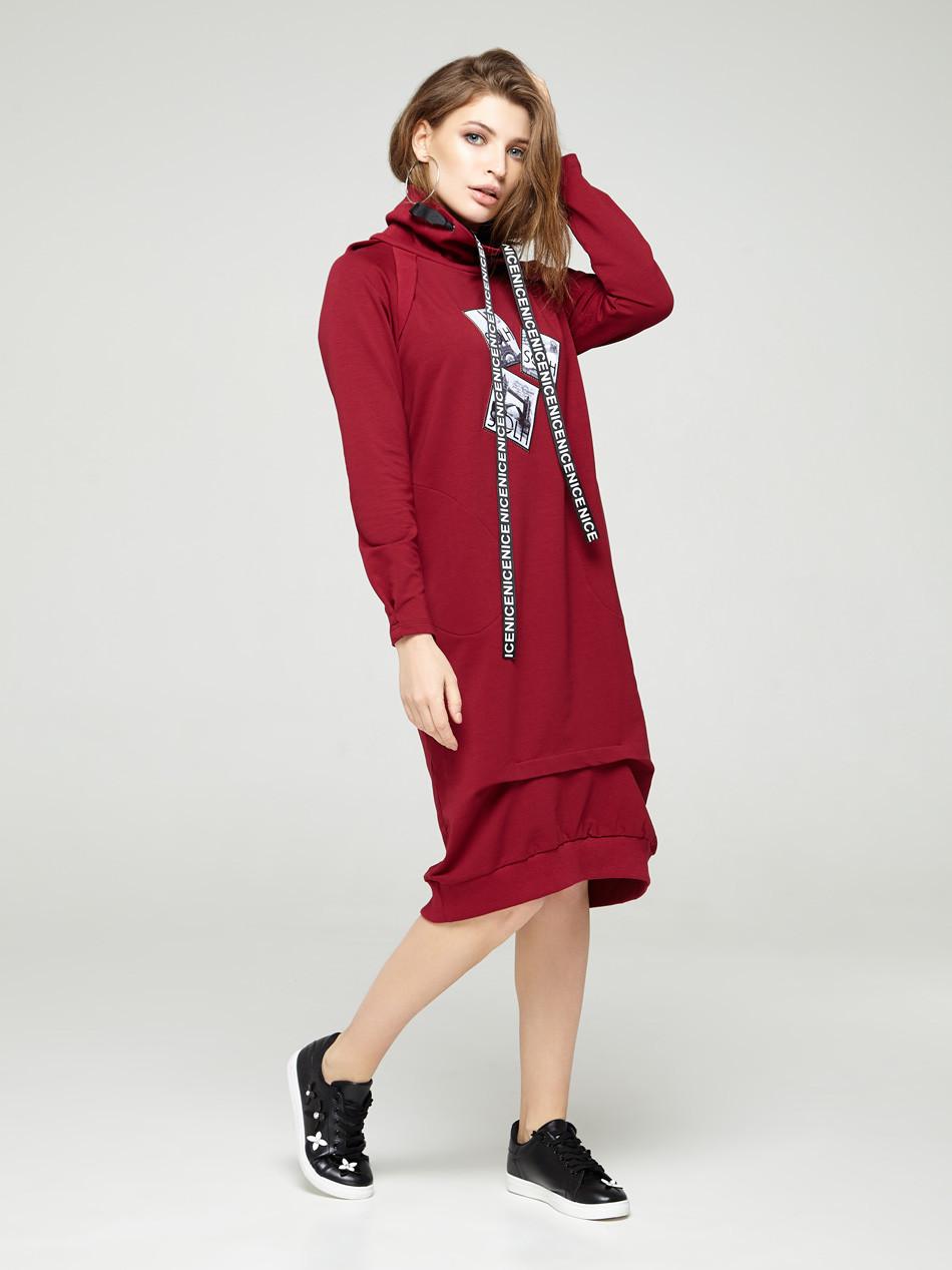 2287 платье Комо, вишня (S)