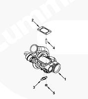 4047747, 4956072, 4047748, 4047751 Турбокомпрессор (Турбина) на двигатель Cummins