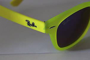 Очки Ray-Ban Wayfarer Синеватые линзы Зеленые Глянцевые-матовые Уейфэра, фото 2