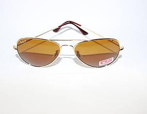 Легендарные очки Ray Ban Aviator Оранжевые линзы Поляризация , фото 2