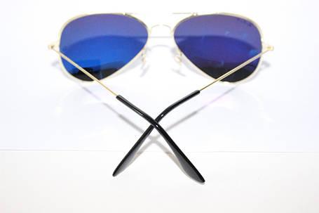 Легендарные очки Ray Ban Aviator Темные (изнутри Синие) линзы Поляризация , фото 2
