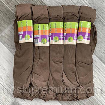 Носки женские капрон рулон, пучок Ласточка, 23-25 размер, мокко - шоколад, 1200