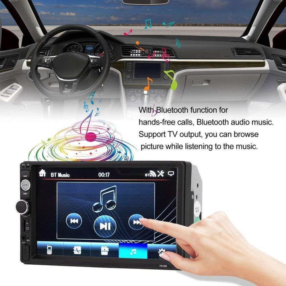 """Магнитола 2 дин  7010B Little + рамка 7"""" дюймов сенсор + USB, SD, FM, Bluetooth"""