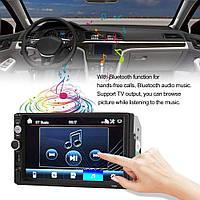 """Магнитола 2 дин Pioneer 7010B Little + рамка 7"""" дюймов сенсор + USB, SD, FM, Bluetooth"""
