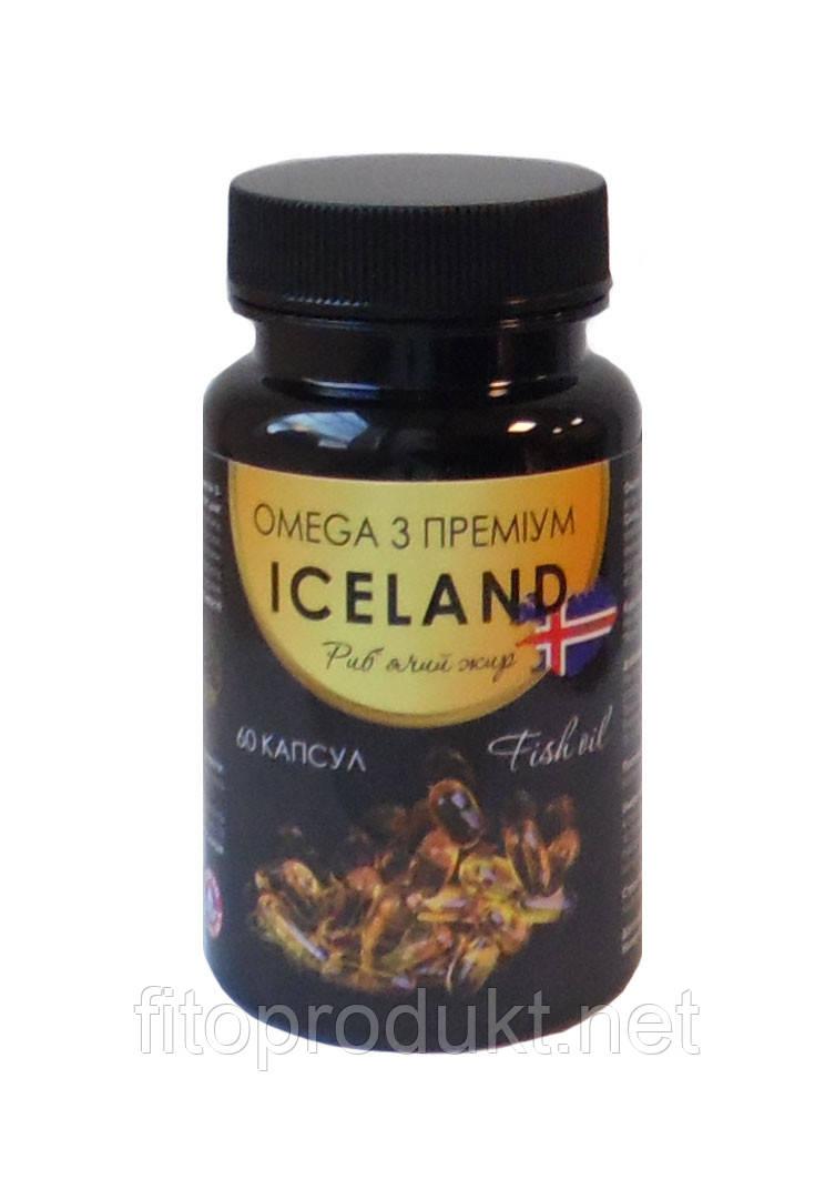 Омега 3 Премиум Рыбий жир, капсулы по 500 мг №60 LYSI ICELAND