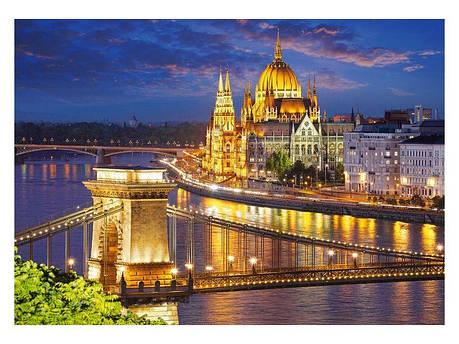 Пазлы Панорама Будапешта в сумерках на 2000 элементов, фото 2