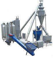 Сушилка для сушки биомассы для производства топливных брикетов производительностью 1000кг/час
