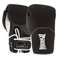 Боксерські рукавиці PowerPlay 3011 Чорно-Білі карбон 12 унцій - 144809